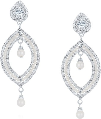 ShoStopper Fabulous Australian Diamond Alloy Drop Earring