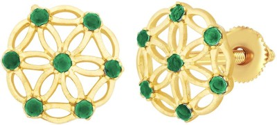 Peora Cutout Brass Stud Earring