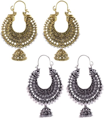 Crazytowear Spring Sparkle Oxidised Antique Alloy Earring Set