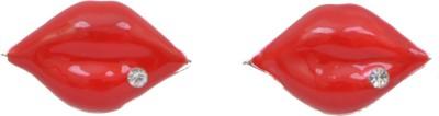 WoW Red Lips Alloy Stud Earring