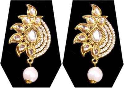 Triumphin Sparkle Flower Crystal Zinc Drop Earring