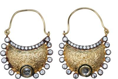 Ved Jewel Designer Brass Hoop Earring
