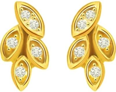 Surat Diamond Diamond Yellow Gold Stud Earring