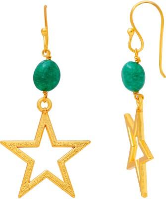 Ijuels Princess vogue treasures delight Crystal Brass Drop Earring