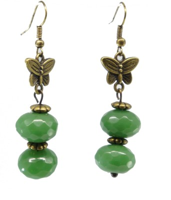 TATWAA THE ELEMENTS Green wave Stone Dangle Earring
