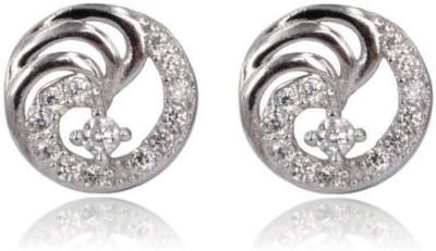 Eve's Wardrobe Twinkling Round Zircon Brass Stud Earring