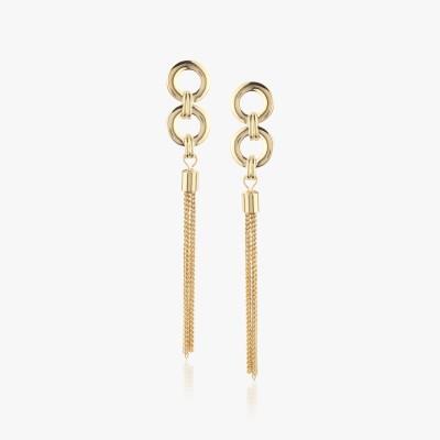 Shamoda Golden Loop Metal Dangle Earring