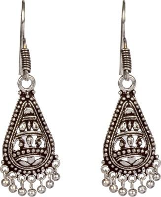 Divitha Allure Silver antique design tear drop. Alloy Drop Earring