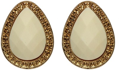 Sparkling Trinkets White Alloy Stud Earring