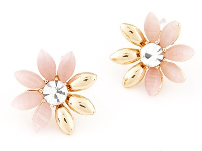 Cilver Fashion Awsome Cute Flowers Alloy Stud Earring