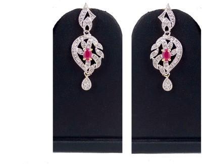 Hotpiper Royal AD Zircon, Ruby Alloy Chandelier Earring