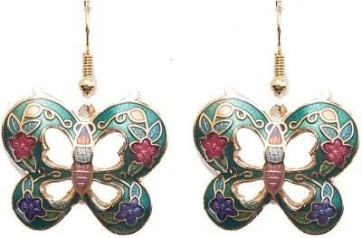 6 Lotus Unique Brass Dangle Earring