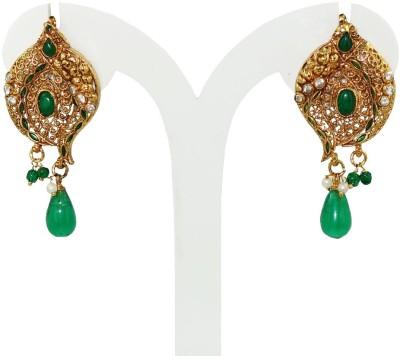 Anjan Marvellous Traditional Golden Alloy Drop Earring
