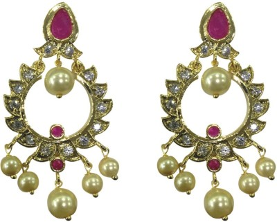 Sri Kapi Pearls FE126 Cubic Zirconia Alloy Chandbali Earring