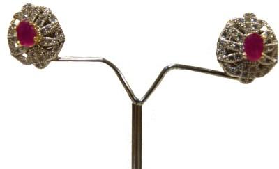 Aakhya EAR3 R Diamond Rose Gold Stud Earring