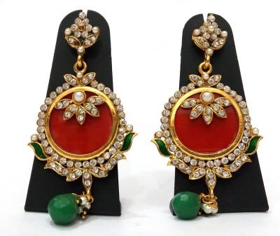 Womaniya Blood Pheasant Alloy Chandbali Earring