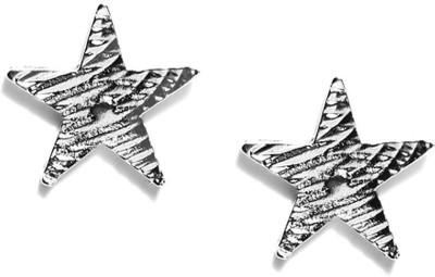 ToniQ Over sized Silver Star Metal Stud Earring