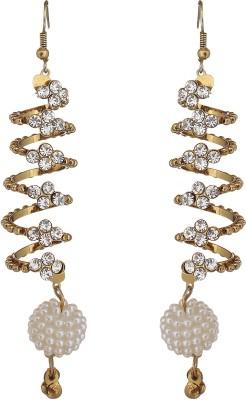 The Gallery Bold Spiral Earrings Zircon Alloy Jhumki Earring