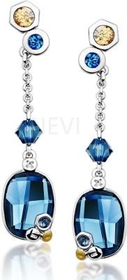 Nevi Chraming Blue Fashion Crystal, Swarovski Crystal Metal, Crystal, Brass Drop Earring