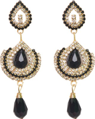 NM Products Long Lovely Black Alloy Drop Earring