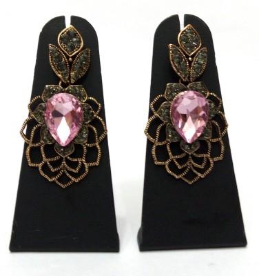 Womaniya pink web beauty Alloy Drop Earring