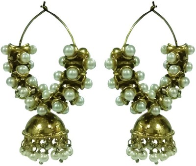 Deco Junction Round Alloy Jhumki Earring