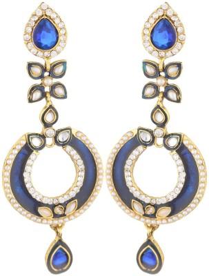 SB Fashions navy blue long earring Brass Jhumki Earring