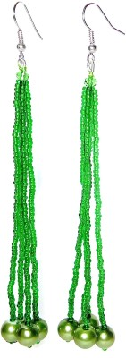 shalini jewlles colour full Beads Metal Dangle Earring