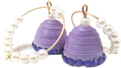 Jyotis Creations Purple Paper Hoop Earring