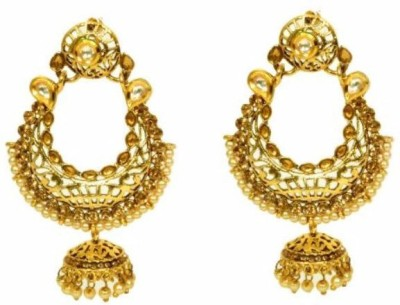 Bejeweled Polki Copper Chandbali Earring