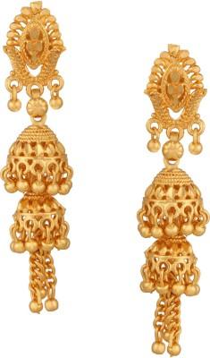 Fashionaya Double Jhumki Brass Jhumki Earring