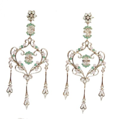 Traditsiya Royal Plated Alloy Chandelier Earring