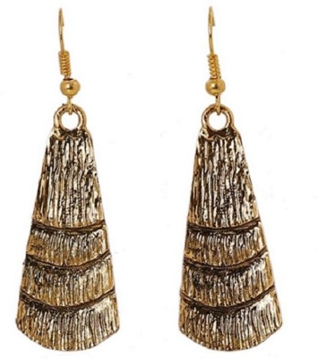 Bohocraft Bohemian Very Stylish Textured Gold Droplets Alloy Dangle Earring
