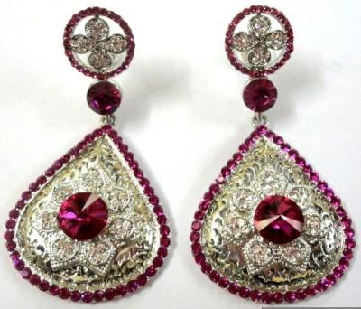 K P Sterling Ethnic Earrings Alloy Drop Earring