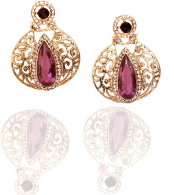 Zebs Collection Fashion Purple Alloy Drop Earring