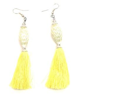 Jiya Fashion Pretties Peacock Thread Tungsten Tassel Earring