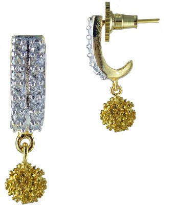 YUVEN Drop With Zircon Brass, Alloy Drop Earring