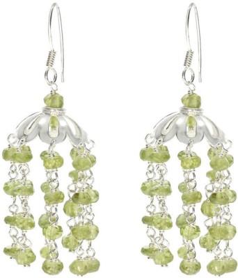 VelvetCase Peridot Jhumka Earrings Peridot Silver Stud Earring