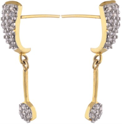Sale Funda Gold plated hanging Zircon Alloy Stud Earring
