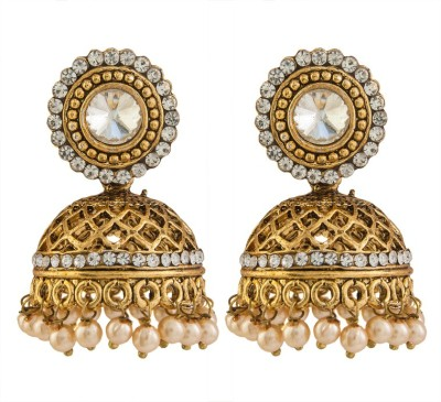 Volama Dsigner Gold Plated Cubic Zirconia Alloy Jhumki Earring