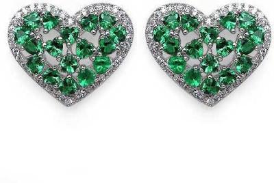 Johareez Spring Cubic Zirconia Sterling Silver Stud Earring