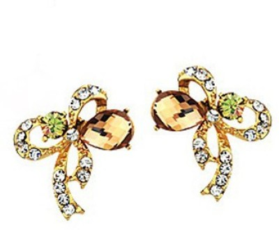 Yellow Chimes Germinate Crystal Swarovski Zirconia Metal Stud Earring