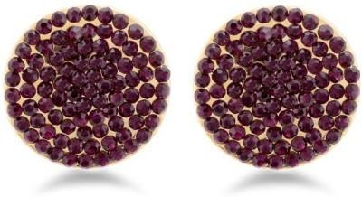 Jazz Jewellery Royal Designer Party Wear Purple AD Stone Earrings For Women's Alloy Drop Earring