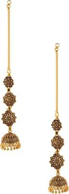 Fashionaya Long Jhumki Brass Drop Earring
