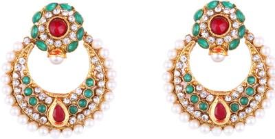 Kashvi Gitanjali Cubic Zirconia Brass Chandbali Earring