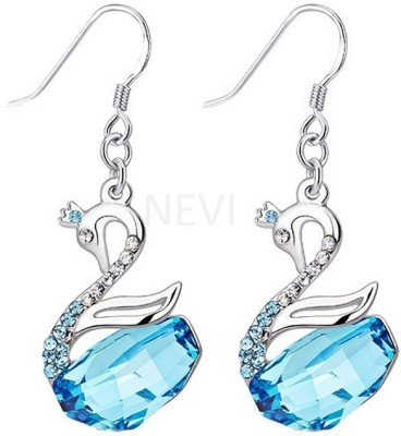 Nevi Swan Crystal, Swarovski Crystal Metal, Crystal Dangle Earring