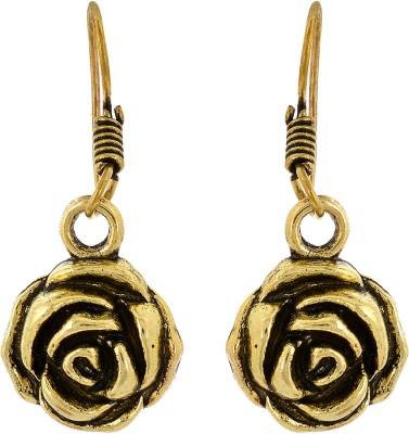Subharpit Rose Flower Metal Dangle Earring
