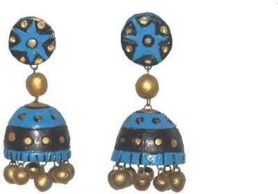 Aanya Creations Handmade Terracotta Ceramic Jhumki Earring