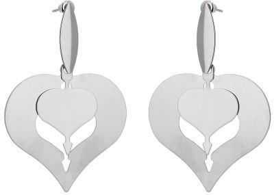 Shanti Jewellery Double Heart Plane Alloy Drop Earring