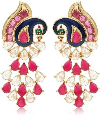 Jewels Galaxy Royal Mayur JE-138 Alloy Dangle Earring